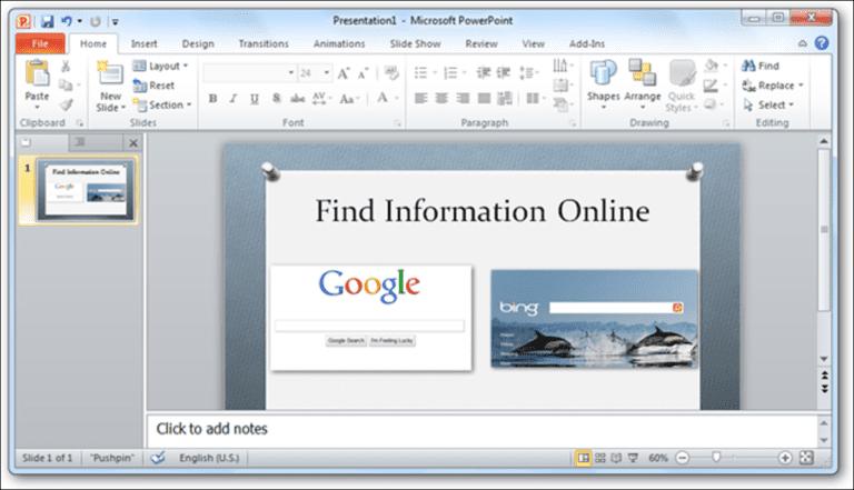 Cómo agregar páginas web en vivo a una presentación de PowerPoint