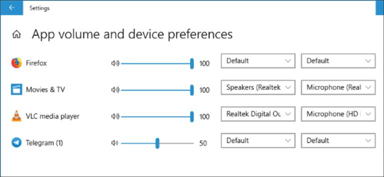 Cómo configurar salidas de audio por aplicación en Windows 10