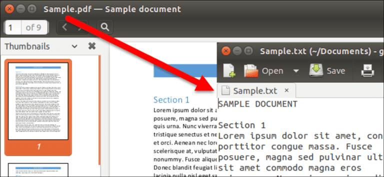 Cómo convertir un archivo PDF a texto editable usando la línea de comandos en Linux