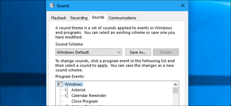 Cómo desactivar (o personalizar) los efectos de sonido en Windows
