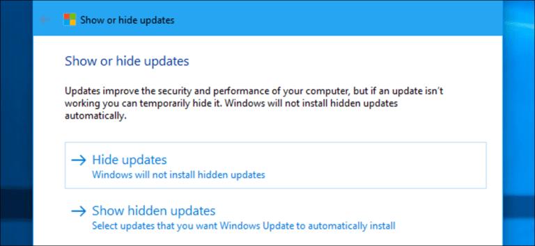 Cómo desinstalar y bloquear actualizaciones y controladores en Windows 10