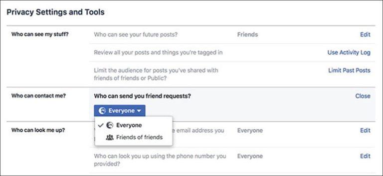 Cómo dificultar que las personas encuentren su cuenta de Facebook