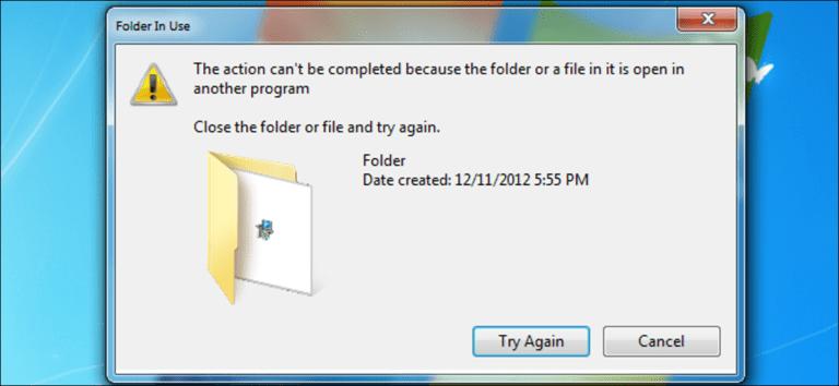 Cómo eliminar, mover o cambiar el nombre de archivos bloqueados en Windows