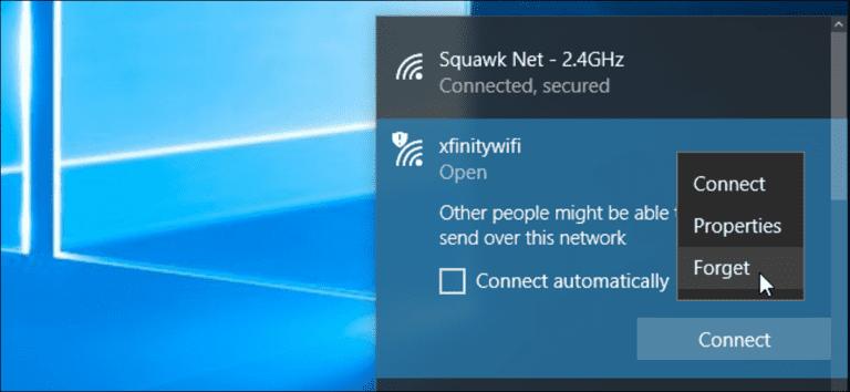 Cómo eliminar una red Wi-Fi guardada en Windows 10