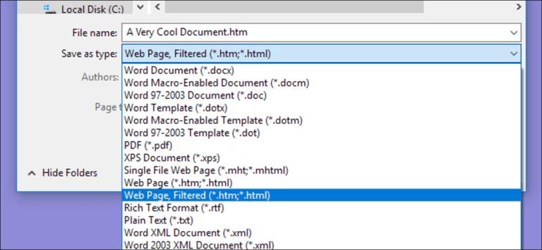 Cómo guardar un documento de Microsoft Word como página web
