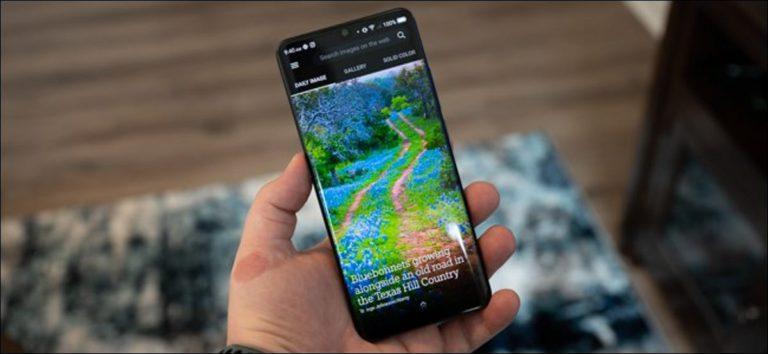 Cómo obtener fotos diarias de Bing como fondo de pantalla en Android
