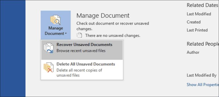 Cómo recuperar un archivo de Microsoft Office no guardado