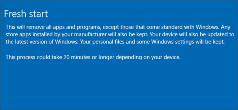 Cómo reinstalar fácilmente Windows 10 sin Bloatware
