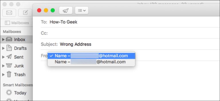 Cómo reparar el envío de correos electrónicos de Apple Mail desde una dirección de correo electrónico incorrecta en su Mac