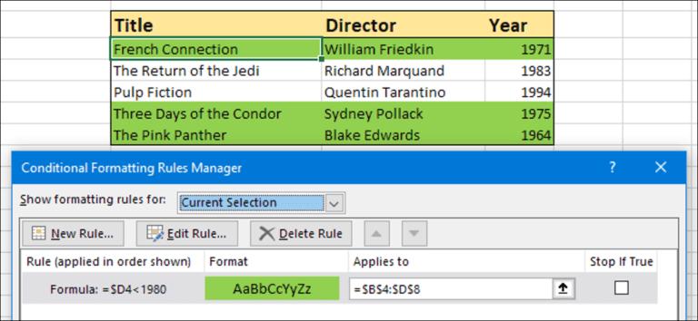 Cómo resaltar una fila en Excel usando formato condicional