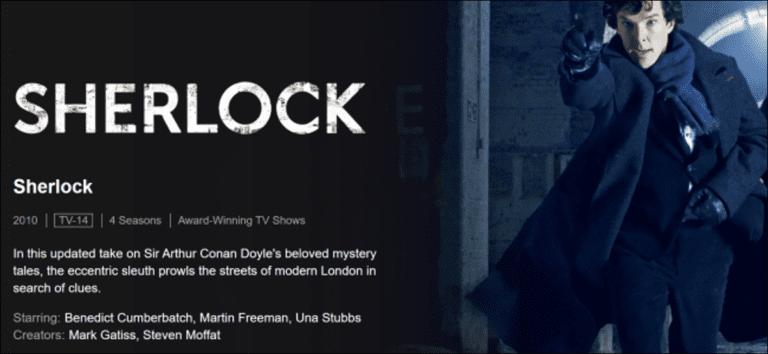 Cómo transmitir «Sherlock» de la BBC sin cable