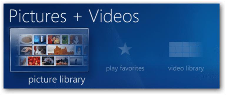 Crear una presentación de diapositivas en Windows 7 Media Center