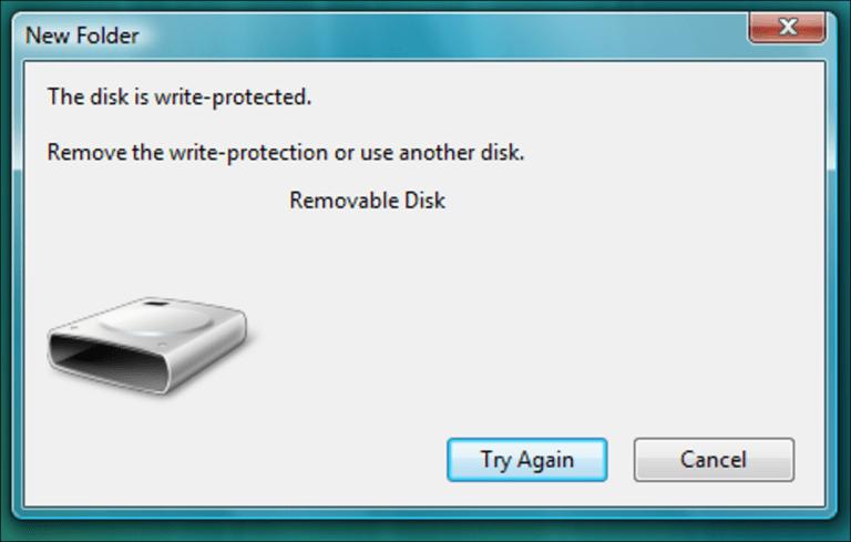 Hack de registro para deshabilitar la escritura en unidades USB