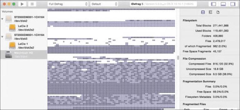 Por qué no es necesario desfragmentar los discos duros de Mac