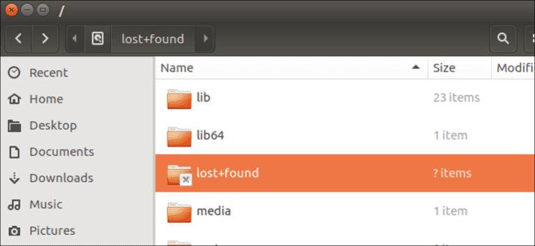 ¿Cuál es la carpeta + perdida que se encuentra en Linux y macOS?