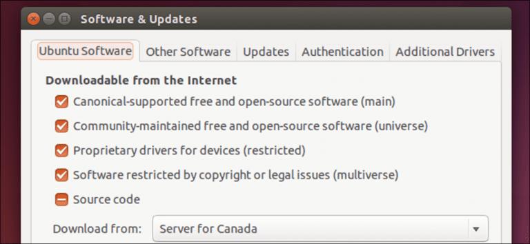 ¿Cuál es la diferencia entre principal, restringido, universal y multiverso en Ubuntu?