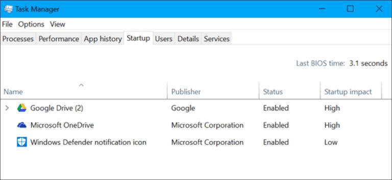 ¿Qué es «BIOS Latest Time» en el Administrador de tareas de Windows?