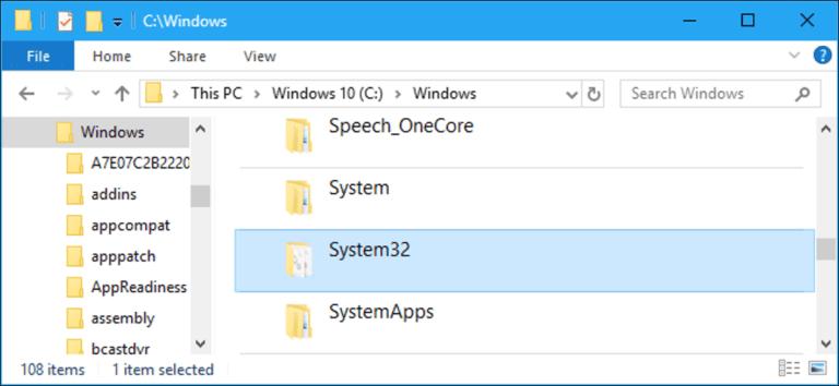 ¿Qué es el directorio System32?  (y por qué no debería eliminarlo)