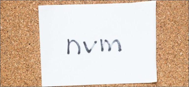 """¿Qué significa """"NVM"""" y cómo se usa?"""