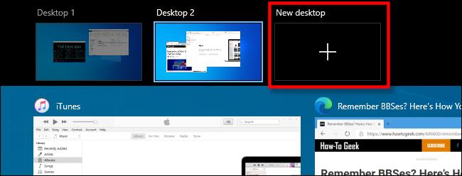 """Para seleccionar """"Nueva oficina"""" en la vista de tareas en Windows 10."""