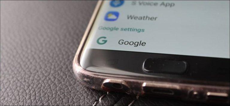 Cómo acceder a la aplicación «Configuración de Google» en el Samsung Galaxy S7
