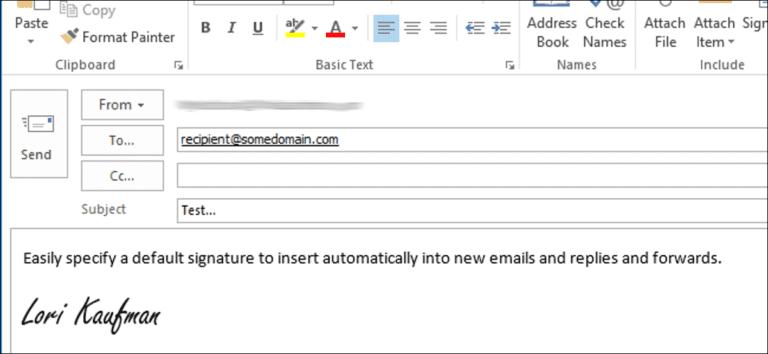 Cómo asignar una firma predeterminada en Outlook 2013