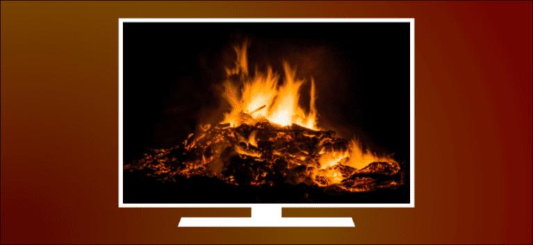 Cómo convertir tu televisor en una chimenea virtual
