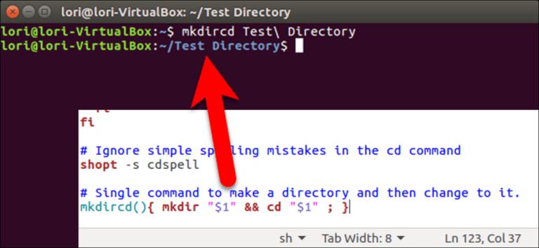 Cómo crear un nuevo directorio y modificarlo con un solo comando en Linux
