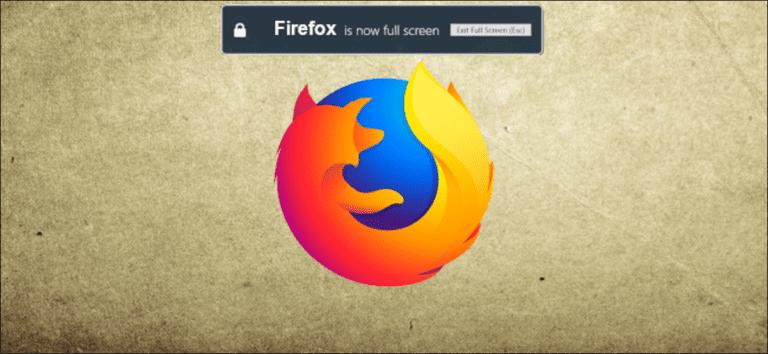 Cómo desactivar el mensaje de advertencia de pantalla completa de Firefox