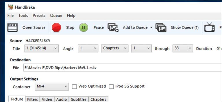 Cómo descifrar y copiar DVD con Handbrake