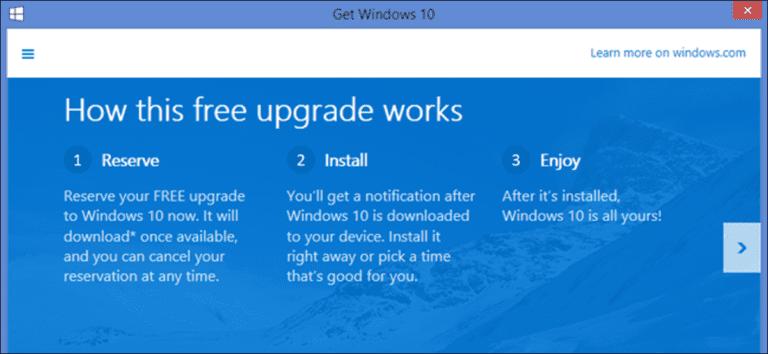 Cómo eliminar el icono «Obtener Windows 10» de la bandeja del sistema (y detener esas notificaciones de actualización)