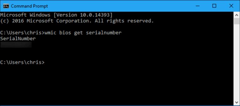 Cómo encontrar el número de serie de su PC con Windows