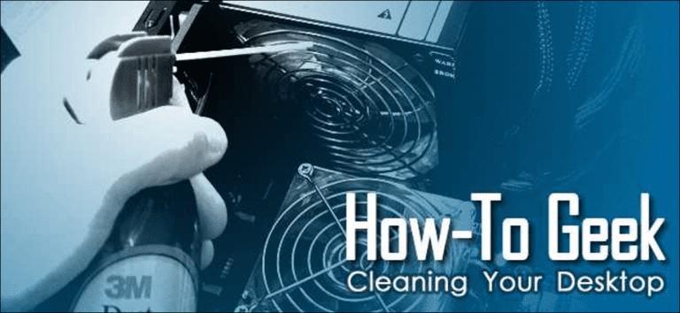 Cómo limpiar profundamente tu escritorio sucio
