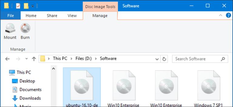 Cómo montar una imagen ISO en Windows 7, 8 y 10