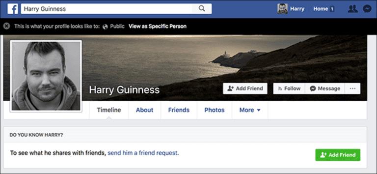Cómo mostrar su página de Facebook como otra persona