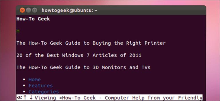 Cómo navegar desde la terminal de Linux con W3M