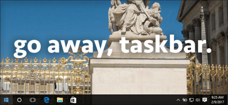 Cómo ocultar automáticamente la barra de tareas de Windows