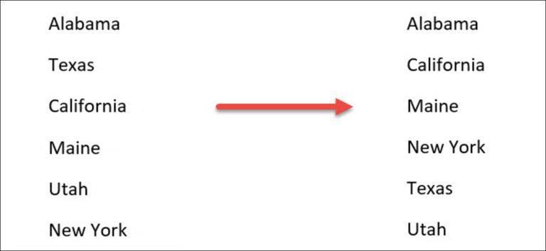 Cómo ordenar alfabéticamente listas y tablas en Microsoft Word