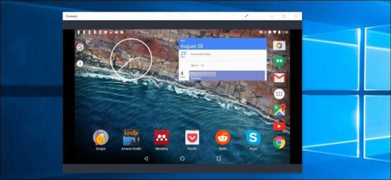 Cómo transmitir su pantalla de Windows o Android a una PC con Windows 10