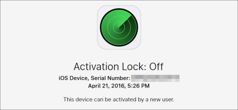Cómo verificar el estado de bloqueo de activación de un dispositivo iOS