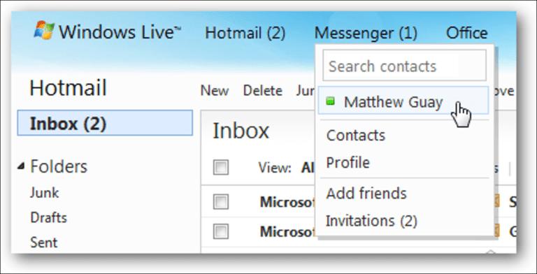 Desactive Messenger en el nuevo Hotmail Wave 4