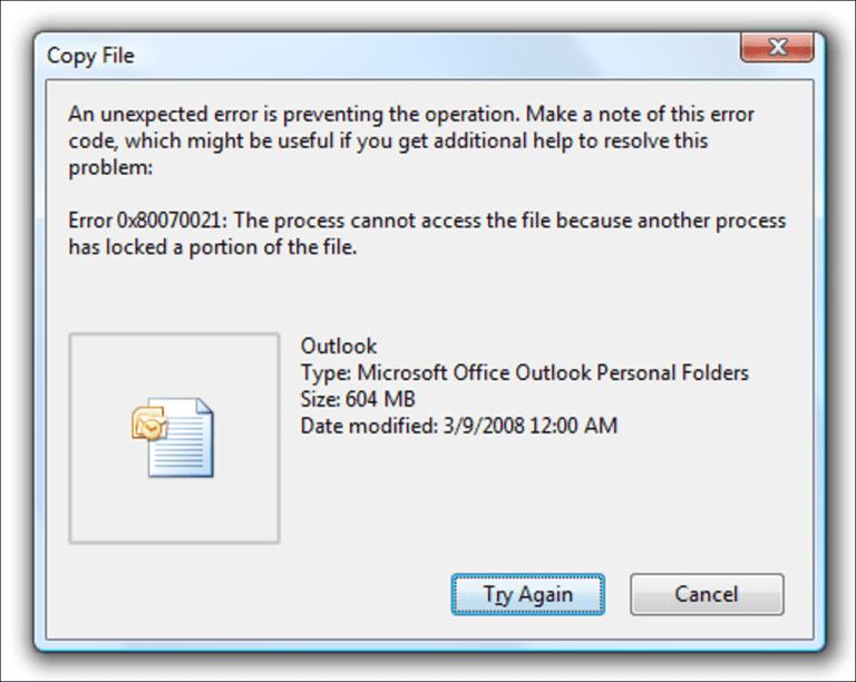 Hacer una copia de seguridad / copiar archivos «en uso» o «bloqueados» en Windows (línea de comando)