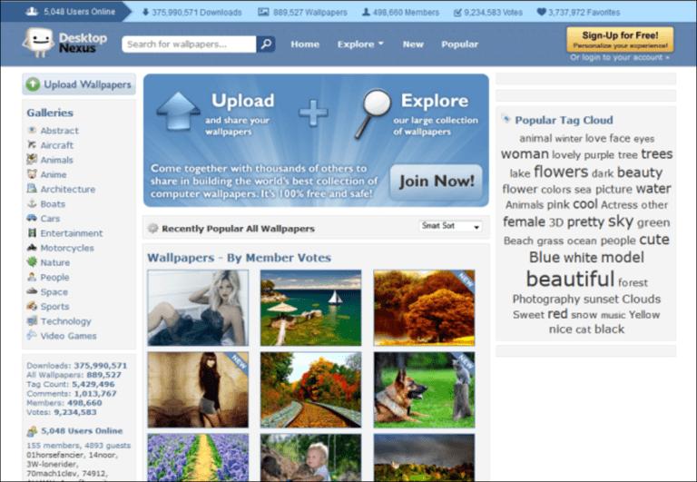 Los mejores sitios web para descargar fondos de pantalla geniales