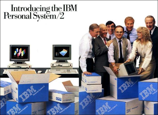 Un anuncio del IBM OS / 2 en una revista.