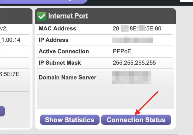 Estado del enrutador para la conexión de red