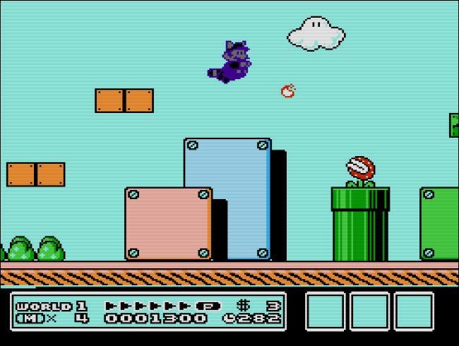 El Genio del Juego podría producir algunos efectos divertidos e innovadores, como la natación de Mario mapache morado