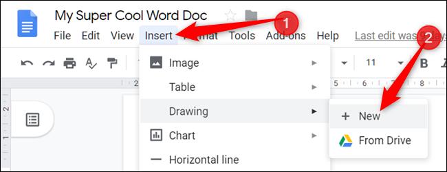 """Haga clic en """"Insertar,"""" para seleccionar """"Diseño,"""" luego haga clic en """"+ Nuevo."""""""