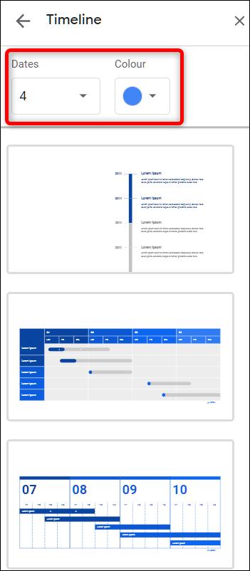 Personalice una plantilla de diagrama en Presentaciones de Google.