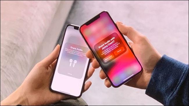 Ventana emergente para compartir audio para AirPods en iOS 13