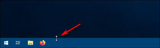 Uso del control deslizante de cambio de tamaño para cambiar el tamaño de la barra de tareas en Windows 10